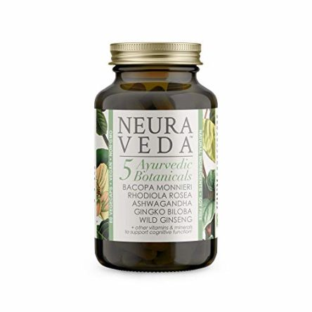 Neura Veda – Support Brain Function | Reduce Tiredness & Fatigue | Nootropic & Adaptogen Blend of Ayurvedic Botanicals – Ashwagandha | Rhodiola Rosea | Bacopa Monnieri | Ginkgo Biloba | Vegan