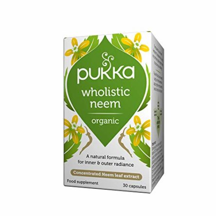 Pukka Herbs Wholistic Neem, Organic Herbal Blend,  Pack of 30 Capsules