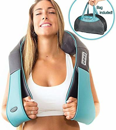 Shiatsu Back Neck and Shoulder Massager with Heat – Deep Tissue 3D Kneading Pillow Massager for Neck, Back, Shoulders, Foot, Legs – Electric Full Body Massage, Relieve Muscle pain – Office, Home & Car